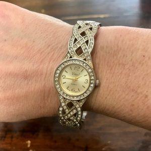 Vivani Gold Cuff Bracelet Watch